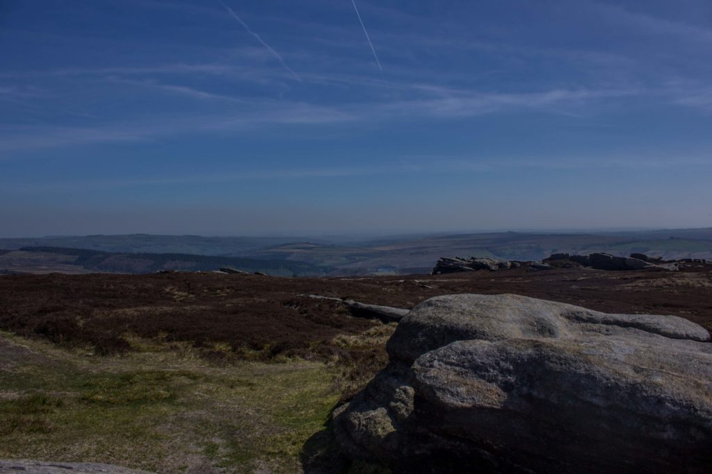Views on route to Back Tor Trig Pillar