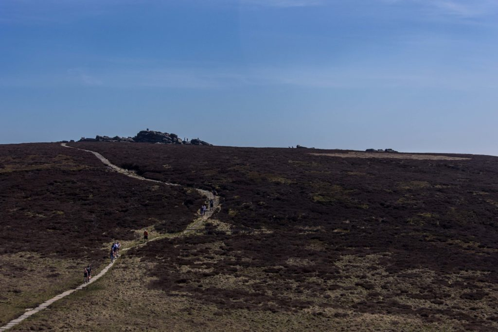 Looking back over Back Tor