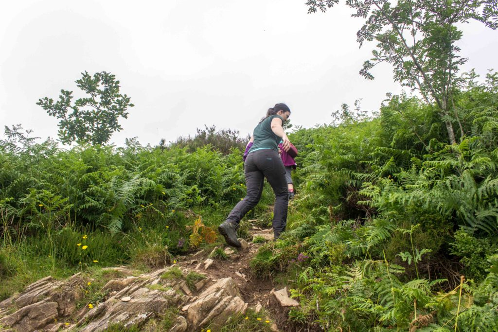 Climbing the hill to Moel-y-Gest