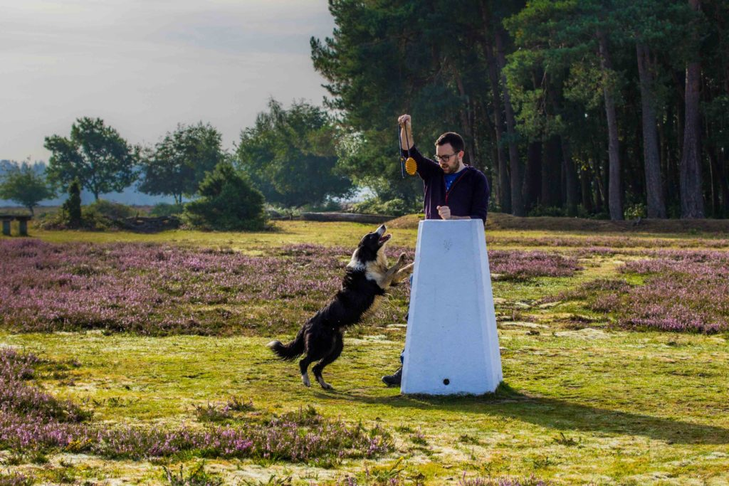 Nick and Bryn at the Ibsley Common trig pillar