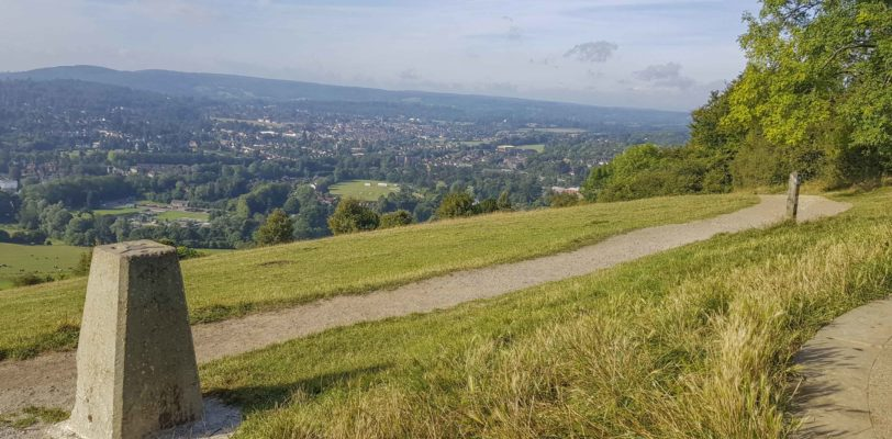 View of Box Hill Trig Pillar
