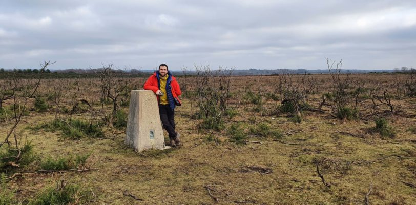 Nick at the Sway Trig Pillar
